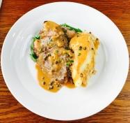 Pan fried venison