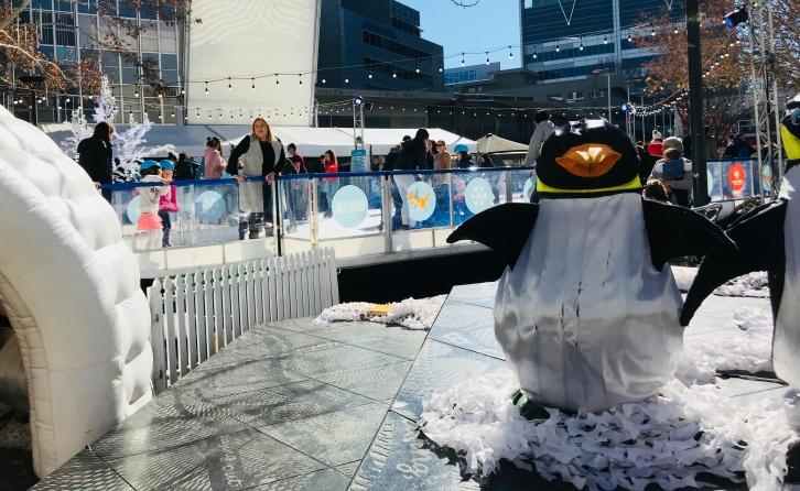 Skating and penguins