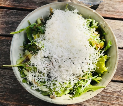Rocket and parmesan salad